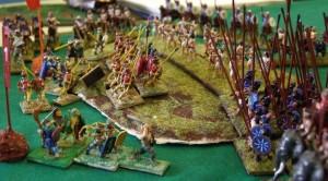 Phyrrus kämpft hier gegen Karthago