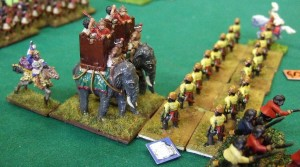 Oh je, pergamenische leichte Truppen gegen Phyrrus' Elefanten